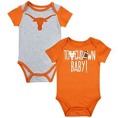 Baby Texas Longhorns Touchdown Bodysuit Set