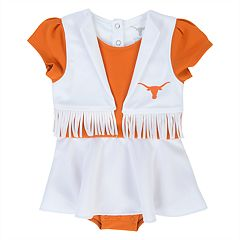 Baby Girl Texas Longhorns Cheer Bodysuit