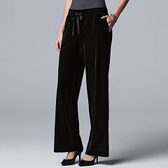 Women's Simply Vera Vera Wang Wide-Leg Velvet Pants