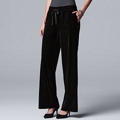 Women's Simply Vera Vera Wang Wide-Leg Velvet Pants
