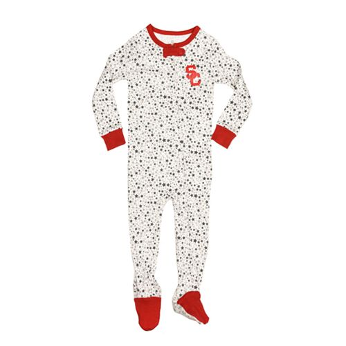 Baby USC Trojans Footed Bodysuit