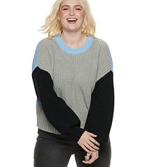 Plus Size POPSUGAR Colorblock Crewneck Sweater
