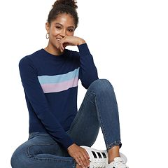 Women's POPSUGAR Colorblock Center-Stripe Sweater