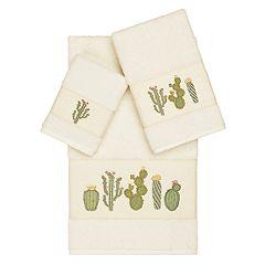 Linum Home Textiles Turkish Cotton Mila Embellished Towel Set