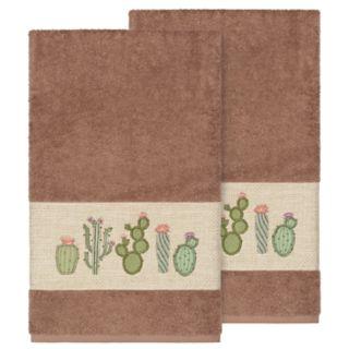 Linum Home Textiles Turkish Cotton Mila Embellished Bath Towel Set