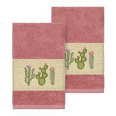 Linum Home Textiles Turkish Cotton Mila Embellished Hand Towel Set