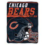 Chicago Bears 40-Yard Dash Throw Blanket