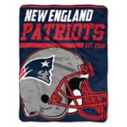New England Patriots 40-Yard Dash Throw Blanket