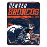 Denver Broncos 40-Yard Dash Throw Blanket