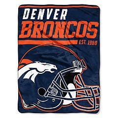 Denver Broncos 40-Yard Dash Throw Blanket