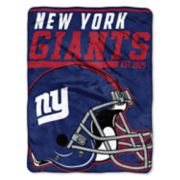 New York Giants 40-Yard Dash Throw Blanket