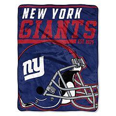 New York Giants 40-Yard Dash Throw Blanket