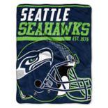 Seattle Seahawks 40-Yard Dash Throw Blanket