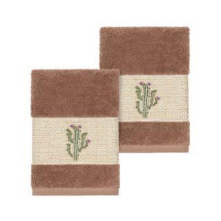 Linum Home Textiles Turkish Cotton Mila Embellished Washcloth Set
