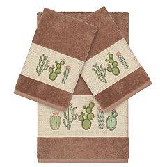 Linum Home Textiles Turkish Cotton Mila 3-piece Embellished Towel Set