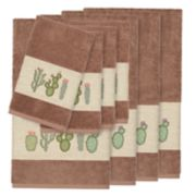 Linum Home Textiles Turkish Cotton Mila 8-piece Embellished Towel Set