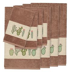 Linum Home Textiles Turkish Cotton Mila 8-piece Embellished Towel Set
