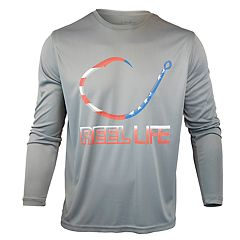 Men's Reel Life Freedom Circle Hook Performance Fishing Shirt