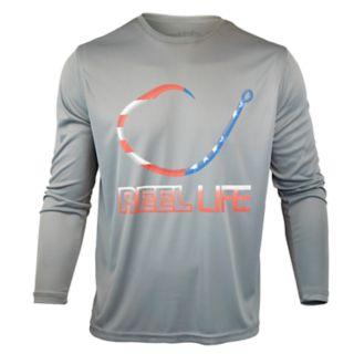 Men's Reel Life Freedom Circle Hook Performance Fishing Shirt