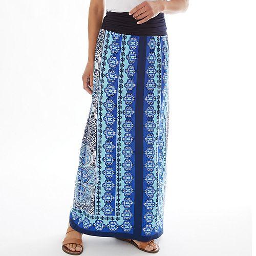 Petite Apt. 9® Print Maxi Skirt