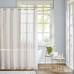 Madison Park Lydia Sheer Fabric Shower Curtain