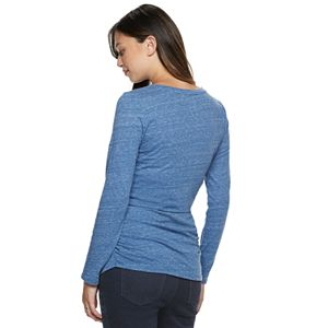 Maternity a:glow Essential Ruched V-Neck Tee