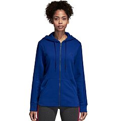 Women's adidas Cotton-Blend Fleece 3 Stripe Hoodie