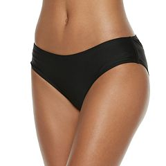 Mix and Match Ruched-Back Cheeky Bikini Bottoms