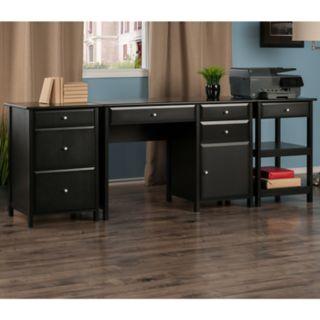 Winsome Delta Home Office Desk 3-piece Set