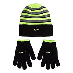 Boys 8-20 Nike Snow-Striped Hat & Gloves Set