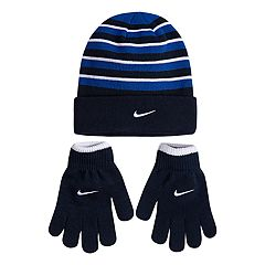 Boys 4-20 Nike Snow-Striped Hat & Gloves Set