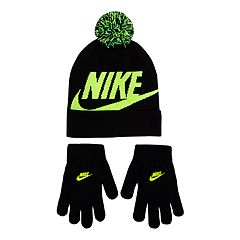 Boys 8-20 Nike Swoosh Beanie & Gloves Set