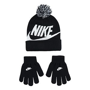 Boys 4-20 Nike Swoosh Beanie & Gloves Set