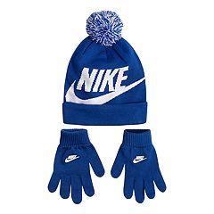 a4ea8a53a2631e Boys 8-20 Nike Swoosh Beanie & Gloves Set