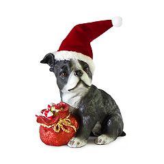 Holiday Boston Terrier 13.39' Floor Decor