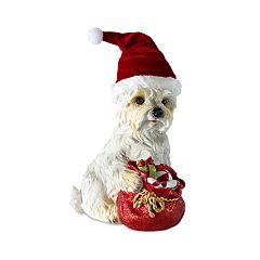 Holiday White Terrier 9.84' Table Decor