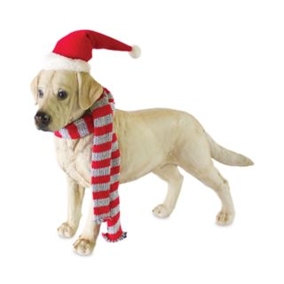 "Holiday Yellow Lab 17.9"" Floor Decor"