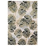 Concord Global Olympus Tropical Leaf Rug