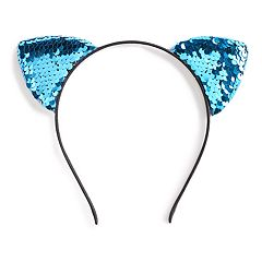 SO® Blue Reversible Sequin Detail Cat Ear Headband