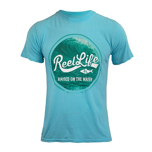 Men's Reel Life Raised On The Water Pigment-Dyed Tee