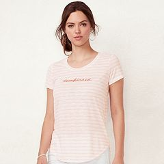 Women's LC Lauren Conrad Slubbed 'sunkissed' Graphic Tee