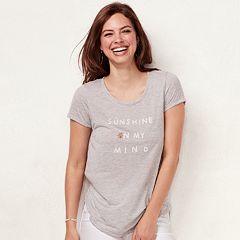 Women's LC Lauren Conrad Slubbed 'Sunshine On My Mind' Graphic Tee