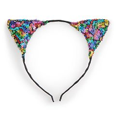 SO® Multi Colored Sequin Cat Ear Headband