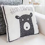 My Baby Sam Little Black Bear Throw Pillow