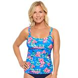 Women's Croft & Barrow® Ruched D-Cup Tankini Top