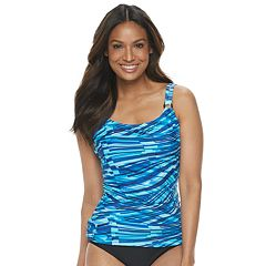 e8f3eb9596c Women's Croft & Barrow® Ruched D-Cup Tankini Top
