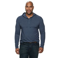 Big & Tall SONOMA Goods for Life™ Modern-Fit Supersoft Henley Hoodie