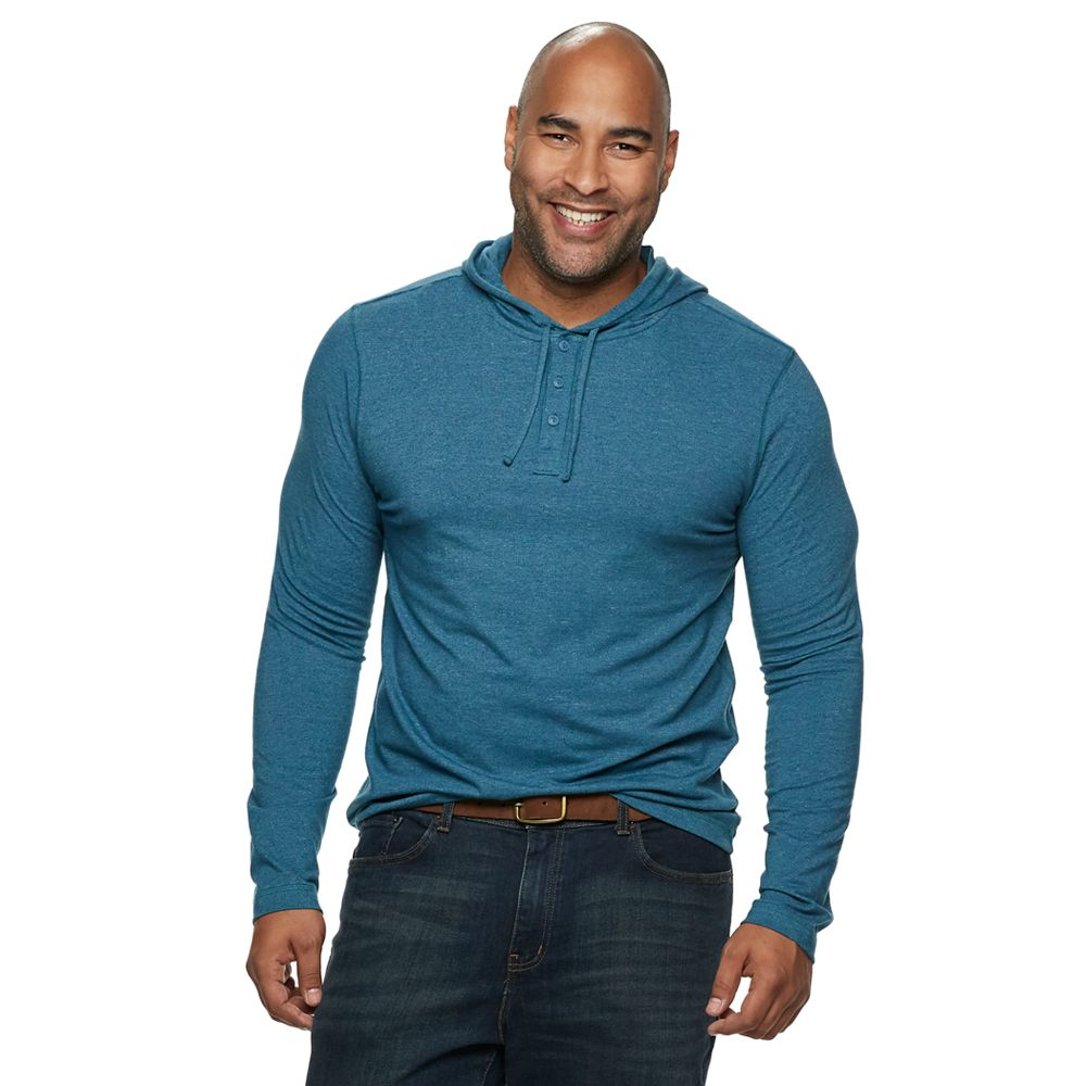 Big & Tall SONOMA Goods for Life® Supersoft Henley Hoodie