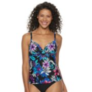 Women's Croft & Barrow® Twisted Push-Up Tankini Top