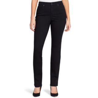 Petite Gloria Vanderbilt Rail Straight-Leg Mid-Rise Jeans